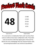 Multiplication Product Flash Cards