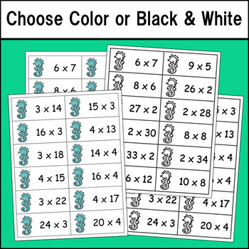 Multiplication Product Match Up (Advanced Version)
