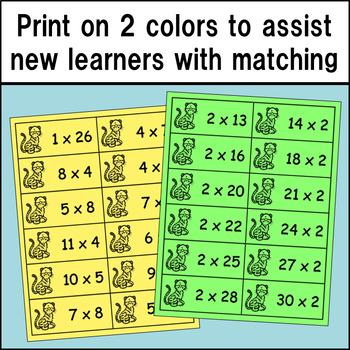 Multiplication Product Match Up (Intermediate Version)
