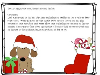 Multiplication Project: Christmas at the Humane Society