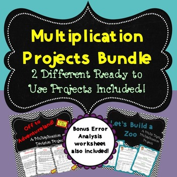 Multiplication Projects Bundle