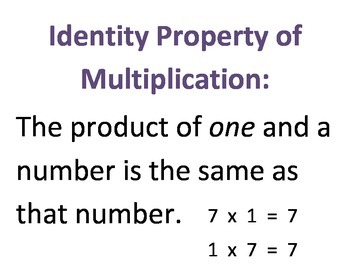 Multiplication Properties!