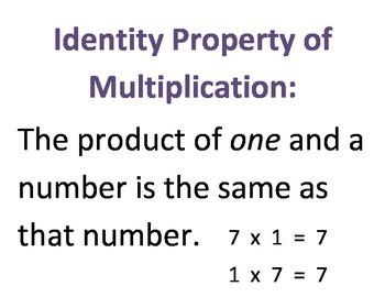 Multiplication Properties!