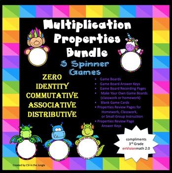 Multiplication Property Bundle - 5 Spinner Games