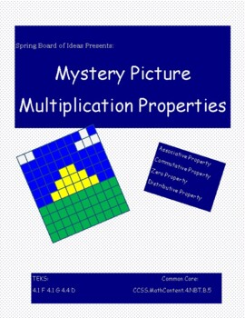 Multiplication Properties Color Page