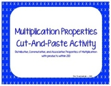 Multiplication Properties Cut and Paste