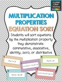 Multiplication Properties Equation Sort