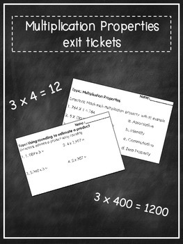 Multiplication Properties Exit Ticket