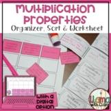 Multiplication Properties Organizer, Sort, and Worksheet