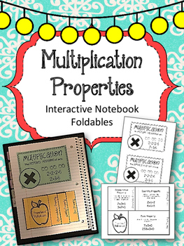 Multiplication Properties Interactive Notebook Foldables.