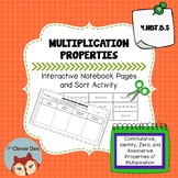 Multiplication Properties - Interactive Notebook - Sort Ac