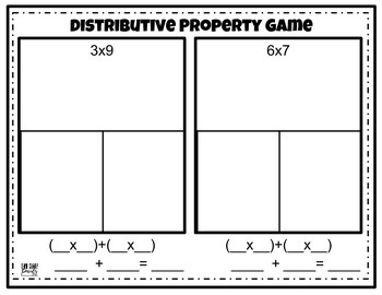 Properties of Multiplication Math Games