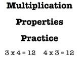 Multiplication Properties Practice