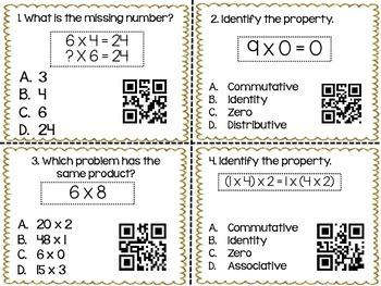 Multiplication Properties QR Codes