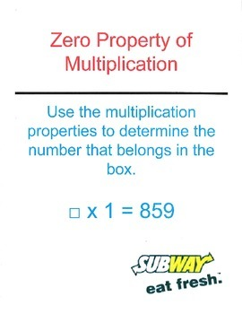 Multiplication Properties Scavenger Hunt