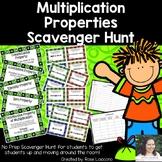 Multiplication Properties Scavenger Hunt