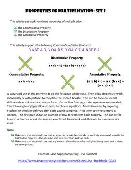 Multiplication Properties: Set 2