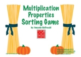 Multiplication Properties Sorting (Fall Themed)