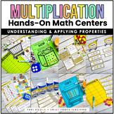 Multiplication Properties Task Cards & Games- Grocery Stor