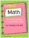 Multiplication Properties Test