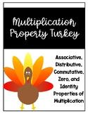 Multiplication Properties Turkey Craftivity