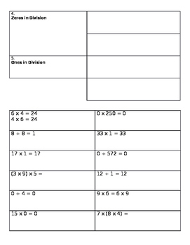 Multiplication Properties and Division Rules