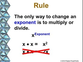Multiplication Properties of Exponents in a PowerPoint Presentation