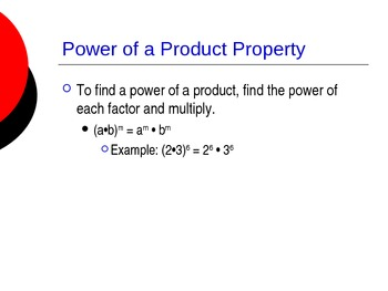 Multiplication Properties of Exponents
