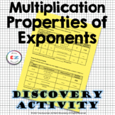 Multiplication Properties of Exponents - Power Rules - Discovery Activity