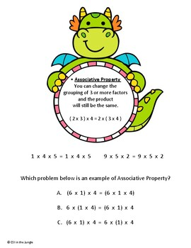 Multiplication Property Posters - Free