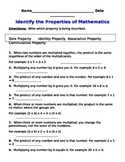 Multiplication Property Practice