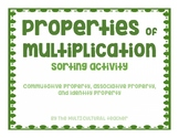 Multiplication Property Sorting Activity