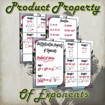 Multiplication Property of Exponents - (Guided Notes and Practice)