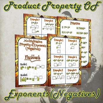 Multiplication Property of Exponents (Negatives) - (Guided Notes & Practice)