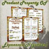 Multiplication Property of Exponents (Negatives) - (Guided