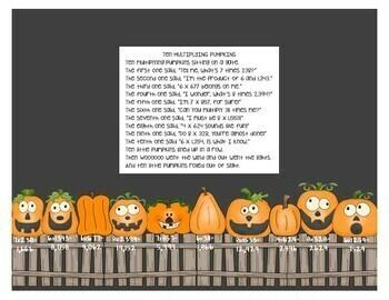 Multiplication Pumpkin Craftivity - 1-digit by 3-digit and 4-digit numbers