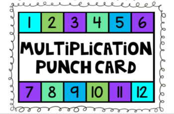 Multiplication Punch Card