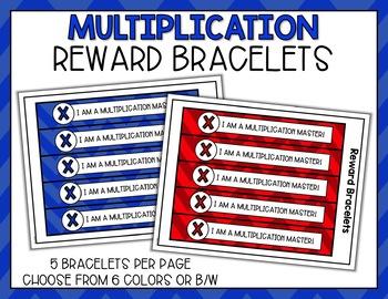 Multiplication Fact Punch Cards, Certificates, Reward Bracelets - Cute Owl Theme