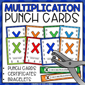 Punch Cards For Multiplication Fact Mastery By Shelly Rees TpT