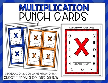 Punch Cards for Multiplication Fact Mastery