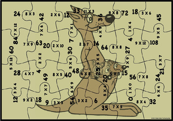 Multiplication Puzzle Factors 0-10