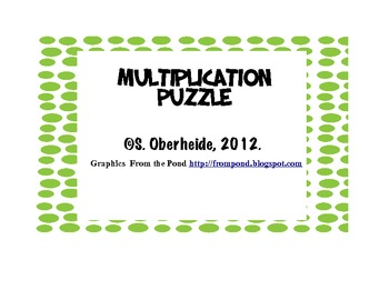 Multiplication Puzzle - FREE