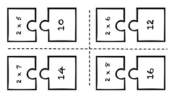 Multiplication Puzzle Match
