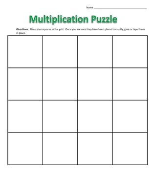 Multiplication Puzzle - Multiply whole numbers by 1-digit