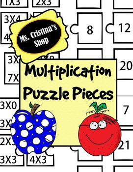 Multiplication Puzzle Pieces