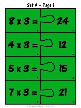 Multiplication Puzzle Race: Multiplying by 3