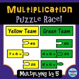 Multiplication Puzzle Race: Multiplying by 5