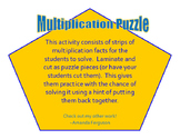 Multiplication Puzzle Strips