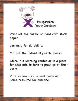 Multiplication Puzzle Factor 10