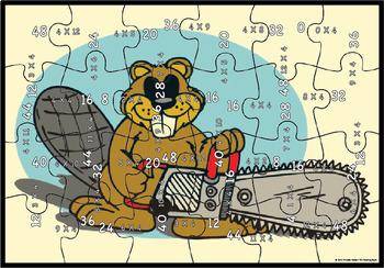 Multiplication Puzzle Factor 4
